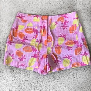 Lily Pulitzer pink pineapple shorts